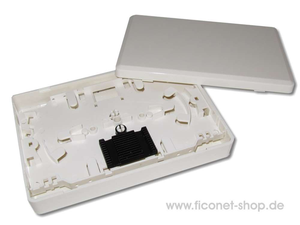 Mini In De Box.Fibre Optic Mini Splice Box For 12 Splices With Splice Tray