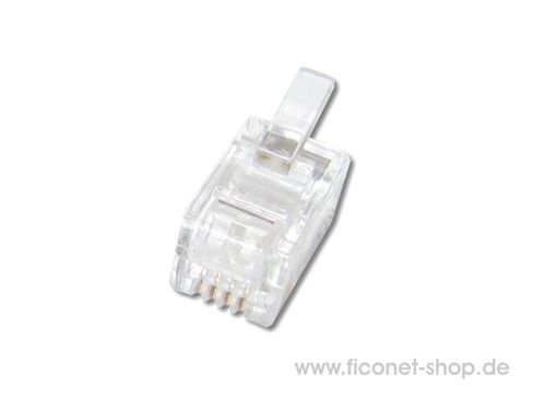 RJ10 Stecker 4/4 Cat.3 ungeschirmt