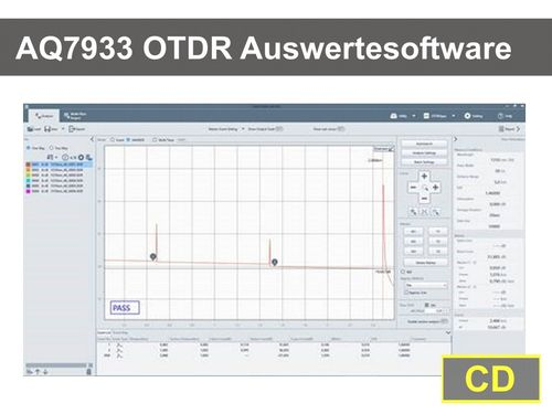 AQ7933 OTDR Auswerte-Software CD