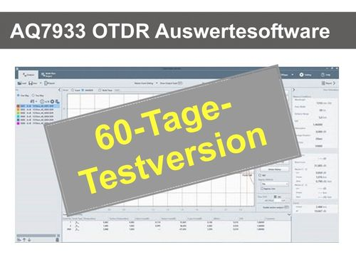 AQ7933 OTDR Auswerte-Software Download TRIAL-VERSION