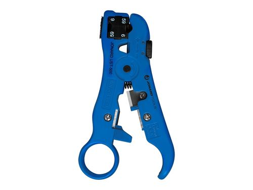 Universal cable stripper for RG59/RG6 and network cables