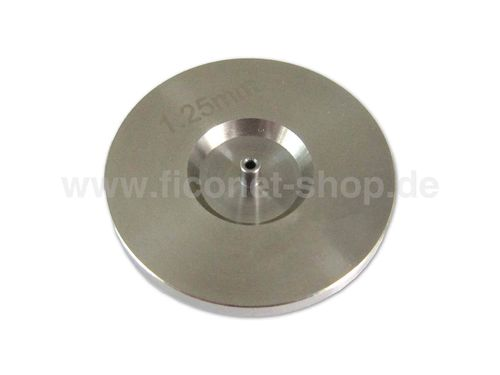 Fiber optic polishing puck for 1.25mm ferrules (LC,MU)