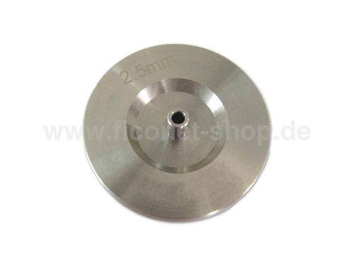 Fiber optic polishing puck for 2.5mm ferrules (ST, SC, FC)